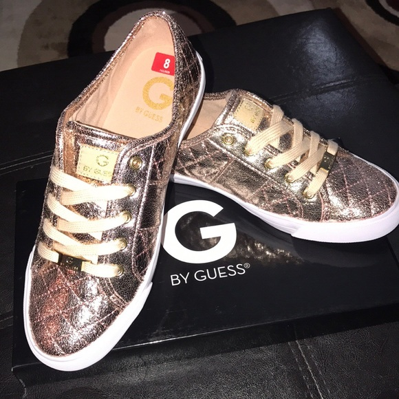 dd46322fa14 G By Guess Rose Gold Metallic Sneaker